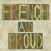 "Words ""French and proud"" — Stock Photo"