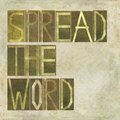 """Words """"Spread the word"""" — Stock Photo"""