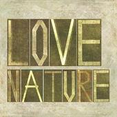 "Words ""Love Nature"" — Stock Photo"