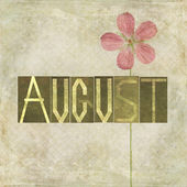 Woord voor de maand augustus — Stockfoto