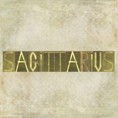 "Word ""Sagittarius"" — Stock Photo"