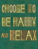 """Kelime """"mutlu ve dinlenmek tercih"""" — Stok fotoğraf"""
