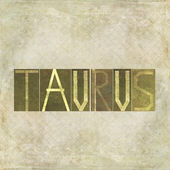 "Word ""Taurus"" — Stock Photo"