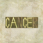 "Parola ""cancro"" — Foto Stock"