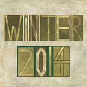 "Design element depicting ""Winter 2014"" — Stock Photo"