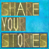 "Words ""Share your stories"" — Stock Photo"