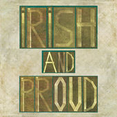 "Words ""Irish and proud"" — Stockfoto"