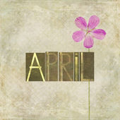Word for the month of April — Stock Photo