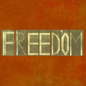 """Design element depicting the word """"Freedom"""" — Stock Photo"""