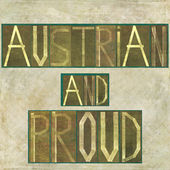 "Words ""Austrian and proud"" — Stock Photo"