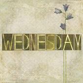 "Word ""Wednesday"" — Stock Photo"