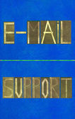 Terms e-mail and support — Stock Photo