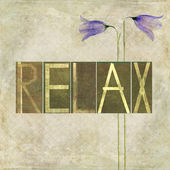 "Word ""Relax"" — Stock Photo"