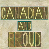 "Words ""Canadian and proud"" — Stock Photo"