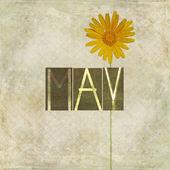 λέξη για το μήνα μάιο — Φωτογραφία Αρχείου