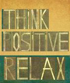 """Olumlu düşünmek kelime """"sakin ol"""" — Stok fotoğraf"""