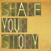 "Words ""Share your story"" — Stock Photo"