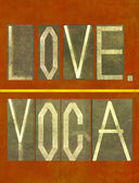 """Words """"Love Yoga"""" — Stock Photo"""