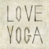 "Design element depicting the words ""Love Yoga"" — Stock Photo"