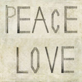 "Design element depicting the words ""PEACE LOVE"" — Stock Photo"