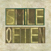 "Design element depicting the words ""Smile often"" — Stock Photo"