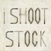 "Design element depicting the words ""I shoot stock"" — Stock Photo"