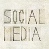 "Design element depicting the words ""Social Media"" — Stockfoto"