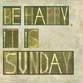 "Design element depicting the words ""Be happy, it is sunday"" — Stock Photo"