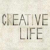"Design element depicting the words ""Creative Life"" — Stock Photo"