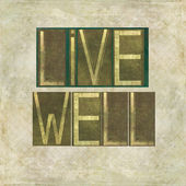 "Design element depicting the words ""Live well"" — Stock Photo"