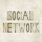 "Design element depicting the words ""Social Network"" — Stock Photo"