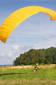 Paraglider training — Stock Photo