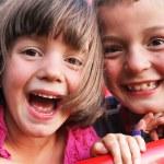Children play in the playground — Stock Photo #18112731