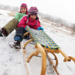 Children fun on the snow — Stock Photo #18652581