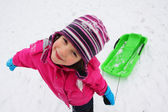 Children fun on the snow — Foto Stock