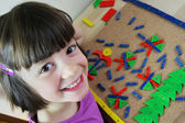Montessori puzzle. Preschool. — Stock Photo