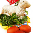 Traditional Easter cake - lamb. — Stock Photo
