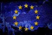 European grunge flag — Stock Photo