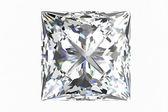 Diamantový šperk na bílém pozadí. — Stock fotografie