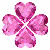Pink sapphire — Stock Photo