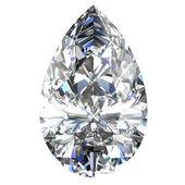 Diamond jewel on white background — Stock Photo