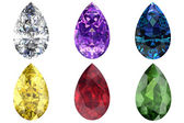 Set of gems — Stock Photo