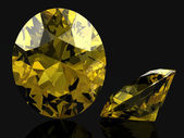 Beautiful yellow diamond — Stock Photo