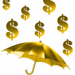 Stock Photo: The golden rain of dollar signs