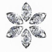 Diamond . High quality 3d render with HDRI lighting — Stock Photo
