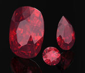 Ruby or Rodolite gemstone — Stock Photo
