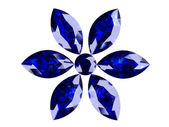 Blue sapphire (high resolution 3D image) — Foto de Stock