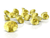 Beautiful yellow diamond (high resolution 3D image) — Stock Photo
