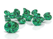Emerald (high resolution 3D image) — Stock Photo