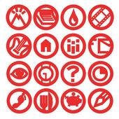 Conjunto de iconos web para negocios, finanzas y comunicación — Foto de Stock